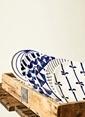Warm Design Hand-Painted Tabaklar Mavi